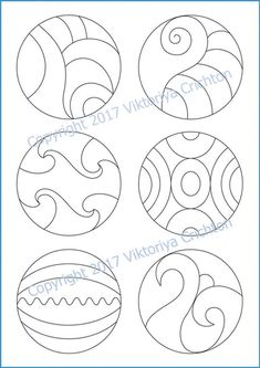 Strings for drawing zentangle patterns in the circle templates for drawing zentangle patterns, tangle pattern Digital string printable. Pottery Painting, Dot Painting, Painting Patterns, Circle Drawing, Cd Crafts, Punch Needle Patterns, Cd Art, Stained Glass Patterns, Free Mosaic Patterns