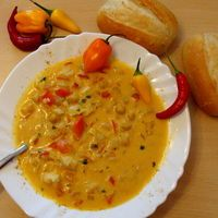 African Coconut Curry Soup