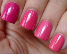 Opi pink flamenco, strawberry margarita, flower to flower, elephantastic pink