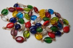 VINTAGE HAND MADE CZECH  GLASS BEAD NECKLACE/ COPPER  WIRE in Jewelry & Watches, Vintage & Antique Jewelry, Costume, Retro, Vintage 1930s-1980s, Necklaces & Pendants   eBay