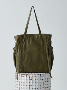 [OSOI 오소이] GATHER [KHAKI] Denim Tote Bags, Diaper Bag, Belt, Purses, Fabrics, Accessories, Jacket, Jewelry, Design