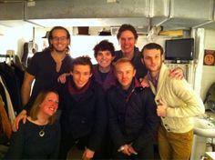 Eddie @ Queens Theatre on February 1, 2012 to visit Les Mis cast!