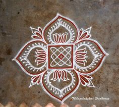 Easy Rangoli Designs Diwali, Rangoli Simple, Indian Rangoli Designs, Simple Rangoli Designs Images, Rangoli Designs Flower, Free Hand Rangoli Design, Rangoli Border Designs, Small Rangoli Design, Rangoli Ideas