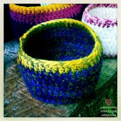 Crochet Felted Bowl by peacelovecreations on Etsy, $12.00