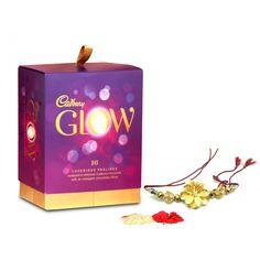 Cadbury's+Glow+Box+ via @giftcart Praline Chocolate, Raksha Bandhan Gifts, Sweets Online, Rakhi Gifts, Star Gift, Sister Gifts, Online Gifts, Box