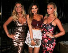 Bronzed babes: Samantha Faiers, Jessica Wright and Billie Faiers show off their deep tans ...