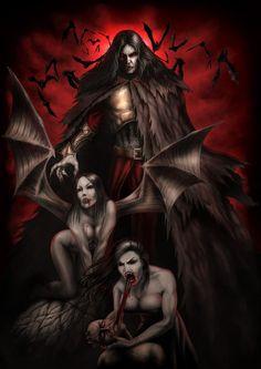The Art of Andrew Dobell - Freelance Illustrator & Artist for Science Fiction, fantasy and Horror. Vampire Love, Vampire Girls, Vampire Art, Dark Creatures, Creatures Of The Night, Dark Gothic, Gothic Art, Dark Fantasy Art, Dark Art