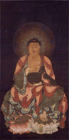 "amyipaguana:  ""Image of Gautama Buddha"" Kamakura Period; Shiga Ishiyamadera Temple"