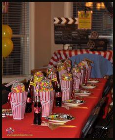 Movie Night Party- tablescape #SugarsticksParties