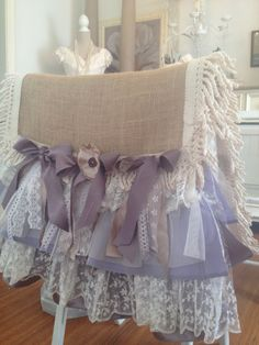 Vintage Lace and Burlap Table Runner Shabby by DenaDanielleDesigns, $125.00