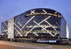 Boogertman + Partners Architects - Project - Podium at Menlyn - Pretoria South Africa Light Architecture, Beautiful Architecture, Architecture Design, Mall Facade, Retail Facade, Shopping Mall Architecture, Architectural Lighting Design, Building Elevation, Facade Lighting