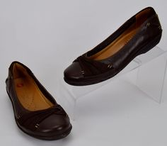 Clarks Unstructured Un Signal Women's Size 6 M Brown Leather Flats #Clarks #LoafersMoccasins #Casual