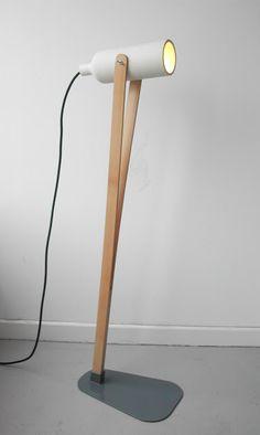 ily interior study: Jump, ceramic lamp and maple wood design Claude OSAS