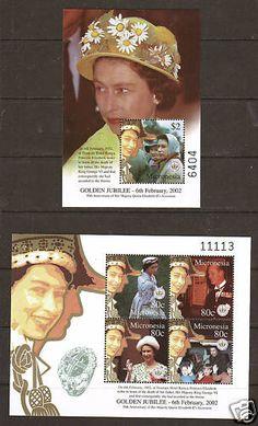 Micronesia SC 483 484 MNH 2002 Qeii Coronation Anniv | eBay