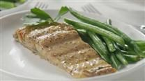 Grilled salmon is treated to a simple and flavorf… Play Video Grilled Salmon I  A simple marinade makes grilled salmon fillets irresisti...