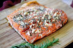 Rosemary and Garlic Roasted Salmon {revisited} - in sock monkey slippers