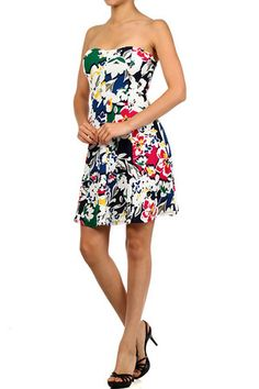 Floral Delight Skater Dress - $37.40 at DressesHabitat.com - #DressesHabitat #FashionHabitat