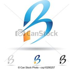 Vector - Abstract icon for letter B - stock illustration, royalty free illustrations, stock clip art icon, stock clipart icons, logo, line art, EPS picture, pictures, graphic, graphics, drawing, drawings, vector image, artwork, EPS vector art