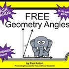 FREE Geometry: You will receive 6 printable task cards focusing on geometry angles. Students are given an angle image and must find the missing angle.  Angles include complementary, supplementary, adjacent and vertical.  A student response form and key are provided.
