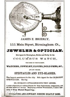 In the mid 1880s, James Edwin Brierly, established a retail book, stationery and jewelry store, located at 111 Main Street, Birmingham, now Derby.