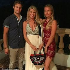 Good genes: Christie Brinkley's famous features years old ) have certainly been passed down to both her daughter Sailor, and her strapping son Jack, who posed for a family picture on Thanksgiving all together Good Genes, Christie Brinkley, Got The Look, My Children, Supermodels, Daughter, Poses, Bikinis, Sailor