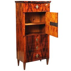Tall Biedermeier Cabinet | From a unique collection of antique and modern cabinets at https://www.1stdibs.com/furniture/storage-case-pieces/cabinets/