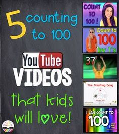 Five Counting to 100 songs that kids will love!