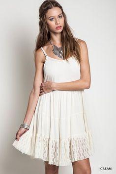 Tie Back Peasant Dress