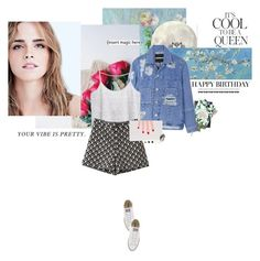 """""""Nature and art and poetry"""" by iolitte ❤ liked on Polyvore featuring Emma Watson, Nikki Strange, House of Holland, MANGO, Charlotte Olympia, Converse, DANNIJO and With Love From CA"""