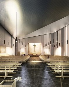 Tomas Ghisellini Architects Reveals Cinisi Church Competition Entry ArchitectureArchitecture InteriorsModern