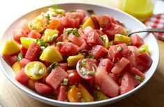 Watermelon Peach Salad: My Beeting Heart. Cover Your Melons & Sun Your Tan