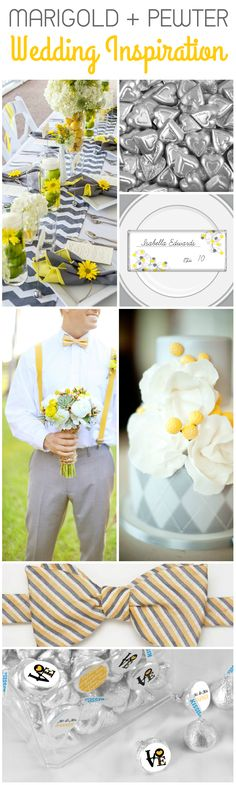 Wedding Color Ideas: Combine Marigold + Pewter for a Spring or Summer Wedding