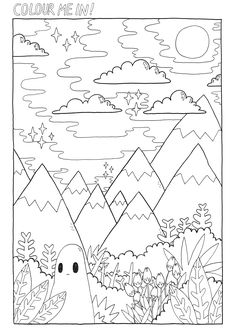 Christmas Activity Coloring Pages Lovely Coloring Pages Print Out and Colour In Coloring Books Easy Coloring Pages, Free Adult Coloring Pages, Online Coloring Pages, Mandala Coloring Pages, Coloring Books, Simple Canvas Paintings, Aesthetic Colors, Christmas Activities, Drawing Techniques
