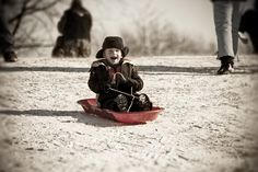 We only buy items that enhance the children's learning in some way. No toys this year! Snowshoes and a sled (for the little one). -Heidi D.M.