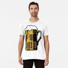 'Cold Beer' Premium T-Shirt by Beer-Bones Best Beer, Wash Bags, My T Shirt, Large Prints, Tshirt Colors, Bones, Looks Great, Fitness Models, Shirt Designs