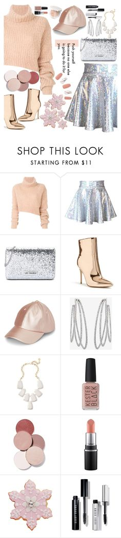 """""""Blinking in The Sand"""" by blackcatme ❤ liked on Polyvore featuring Ann Demeulemeester, Love Moschino, Forever 21, Messika, Kendra Scott, Kester Black, LunatiCK Cosmetic Labs, Bobbi Brown Cosmetics, turtleneck and glitterskirt"""