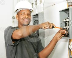 Royalty Free Stock Photo: Handsome Electrician. Image: 4047615