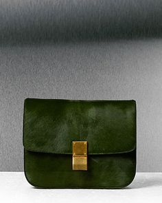 Natural Calfskin Medium Box bag by Celine.