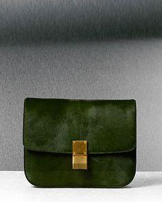 Natural Calfskin Medium Box bag by Celine.