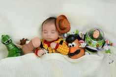 Inspiration For New Born Baby Photography : Adorable toy story Toy Story Nursery, Toy Story Baby, Toy Story Room, Baby Boy Photos, Cute Baby Pictures, Halloween Baby Pictures, Toy Story Pictures, Newborn Baby Photography, Newborn Photos