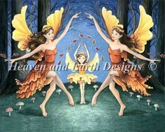 Mini Fall Fairy Dance cross stitch chart