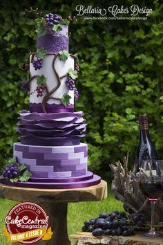 Purple grape vine cake.