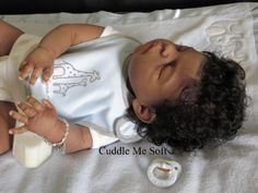 Adopted - AA / Ethnic Reborn Baby Boy Sheila Micheal Kit - www.cuddlemesoft.com for details