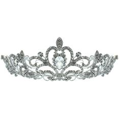 Kate Marie 'Nene' Rhinestone Filigree Crown Tiara with Hair Combs ($63) ❤ liked on Polyvore featuring beauty products, haircare, hair styling tools, brushes & combs, accessories, jewelry, crowns, tiaras, hair accessories and fillers