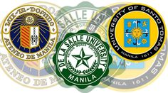 Ateneo De Manila, De La Salle, University of Santo Tomas. Manila, University Of Santo Tomas, Best University, My College, Philippines, Countries, Teaching, School, Saints