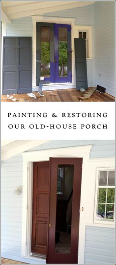 We are DIY-ing the restoration of our old Victorian home... we are working on painting our the wraparound porch.