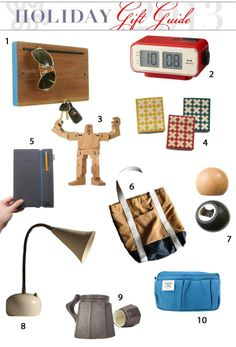 Guy Style: Gifts for Design-Loving Men Holiday Gift Guide from Apartment Therapy #5 & #9