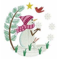 Cute Winter Snowmen 4 06 machine embroidery designs