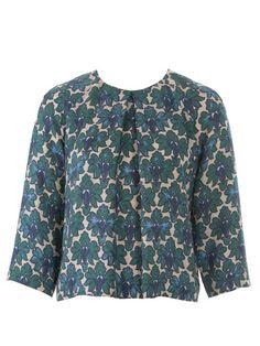 Blouse pattern #105B 11/2014 // Burda Style