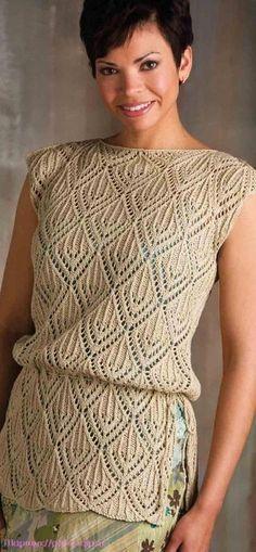 Модели вязания со схемами и описаниями: Летний пуловер . Вязание спицами